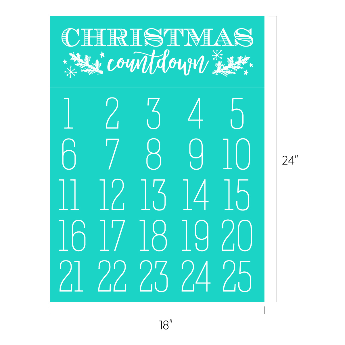 Christmas Countdown Chalk Couture